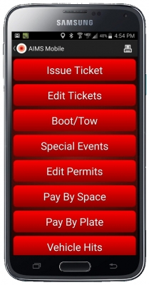 AIMS Mobile Enforcement App